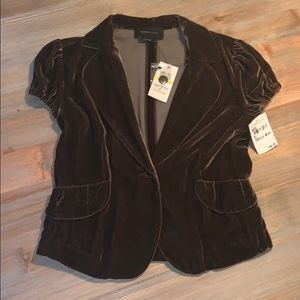 BCBG NEW brown velvet holiday jacket Blazer M